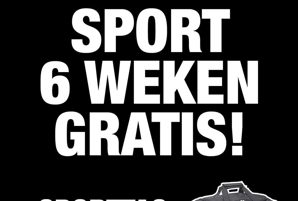 Sport 6 weken gratis! en krijg een sporttas cadeau