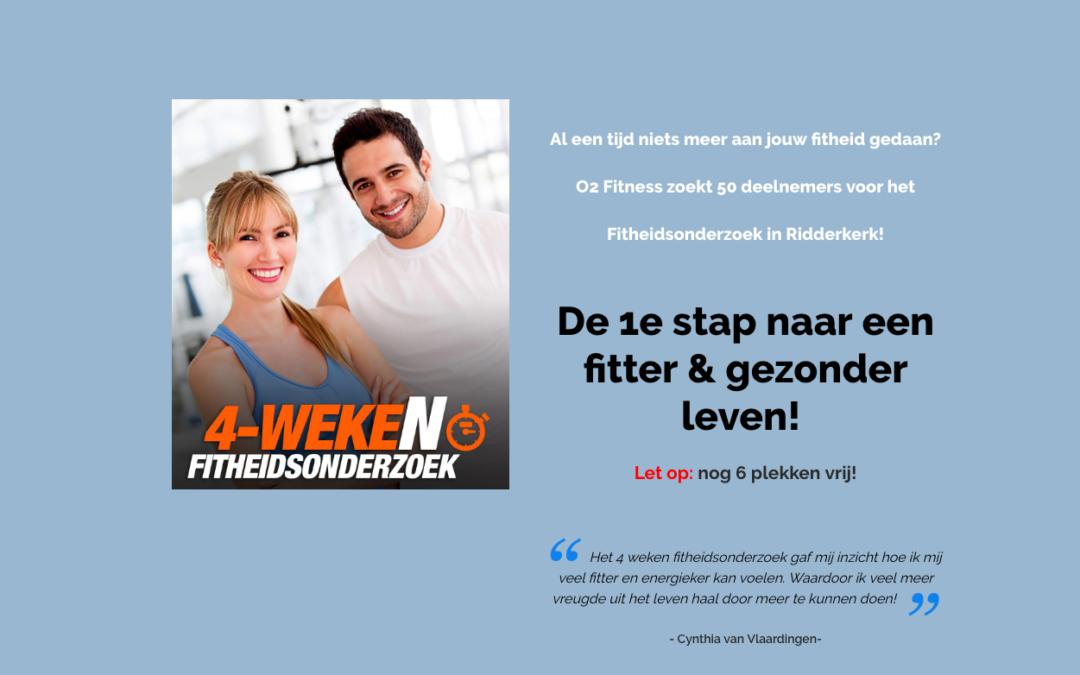 Hét Fitheidsonderzoek bij O2 Fitness in Ridderkerk